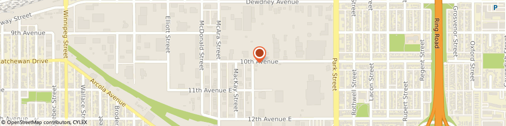 Route/map/directions to Principal Bailiff Corporation, S4N 6H1 Regina, 1706 FRANCIS STREET