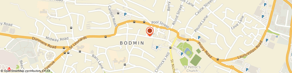 Route/map/directions to Chapel an Gansblydhen Bodmin, PL31 2HR Bodmin, Fore St