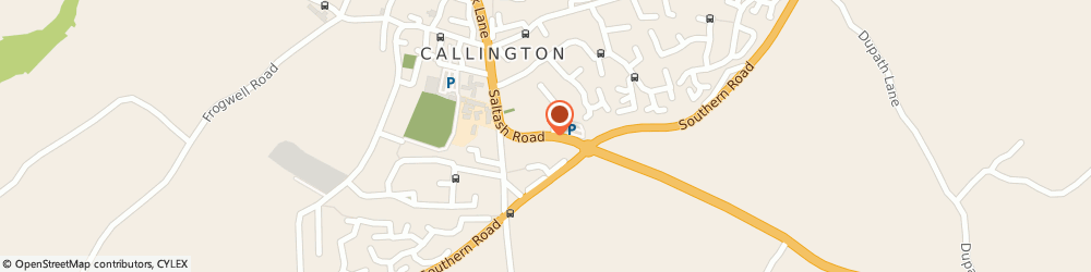 Route/map/directions to Andrew Pridham Cars, PL17 7EQ Callington, Chepstow House, 23 Saltash Road