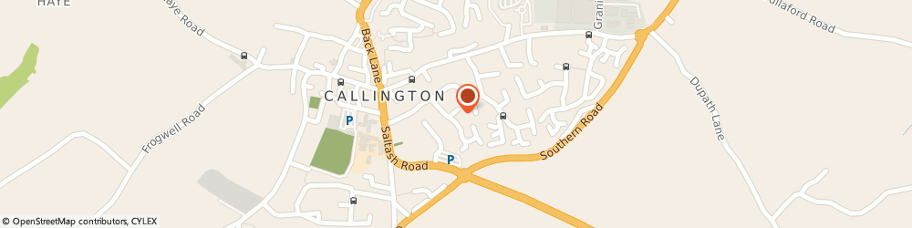 Route/map/directions to I.d Collins, PL17 7EE Callington, 27 Trelawney Road