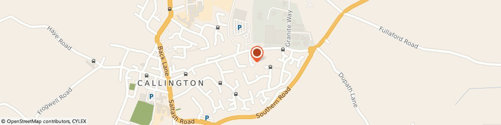 Route/map/directions to C W Cosgrove General Builder, PL17 7EA Callington, 10, LONGFIELD CLOSE