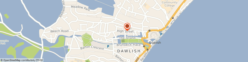 Route/map/directions to UNITED CHRISTIAN ACTION IN DAWLISH AND DISTRICT LTD, EX7 9HP Dawlish, 28 High Street