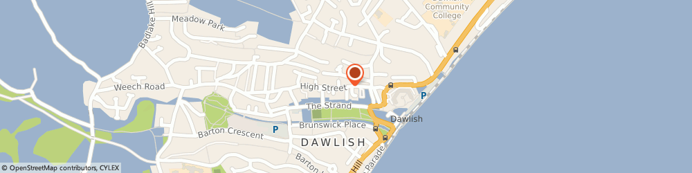 Route/map/directions to Youth Genesis Trust Ltd, EX7 9HP Dawlish, 28 HIGH STREET