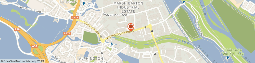 Route/map/directions to Bridge Motorcycles Ltd, EX2 8RG Exeter, Alphin Brook Rd