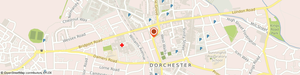 Route/map/directions to Howard Boon (Insurances) Ltd, DT1 1RX Dorchester, 24 Cornwall Road