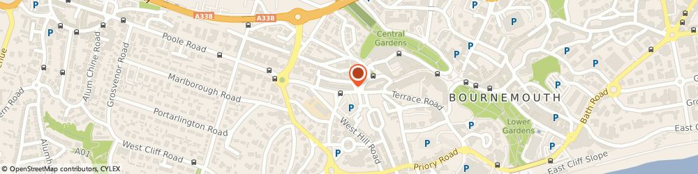 Route/map/directions to Clarendon Business Centre, BH2 5PS Bournemouth, 10 Poole Hill, Clifton House