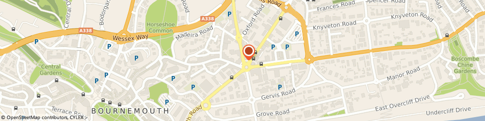 Route/map/directions to Mail Boxes Etc., BH1 1SA Bournemouth, 2 Lansdowne Crescent