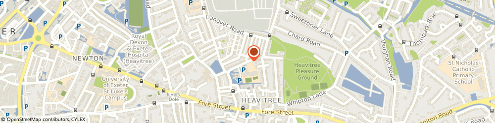 Route/map/directions to The Heavitree Practice, EX1 2RX Exeter, South Lawn Terrace