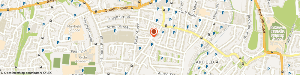 Route/map/directions to Battersby Cycles, PO33 2QN Ryde, 2 Hill Street