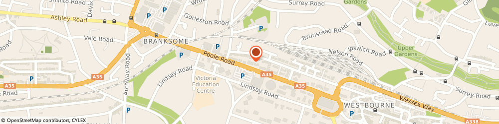 Route/map/directions to Clinical Partners, BH12 1AW Bournemouth, 348 Poole Road