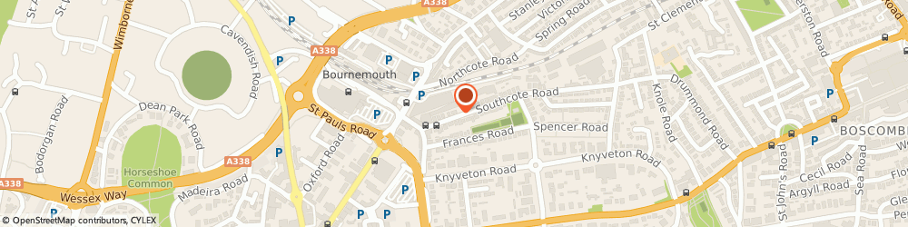 Route/map/directions to Technical Paint Services, BH1 3SH Bournemouth, 27 Southcote Road