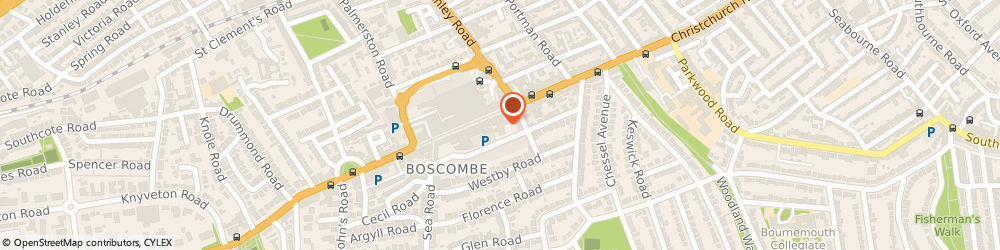 Route/map/directions to DPD Parcel Shop Location - Sainsbury's, BH1 4AP Bournemouth, 637-641 Christchurch Road