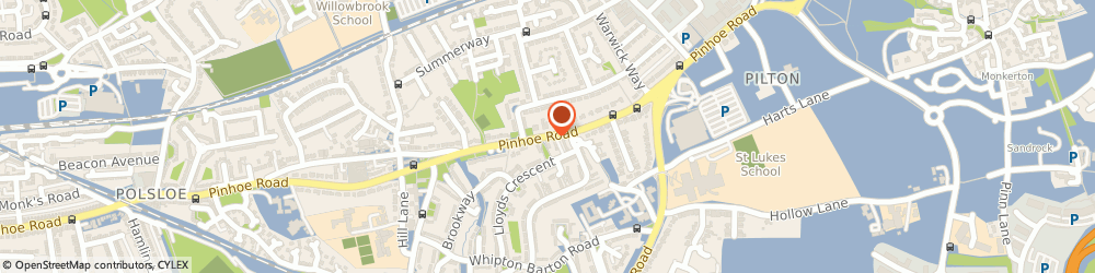 Route/map/directions to Alison Audsley, EX4 8EH Exeter, 402 Pinhoe Road