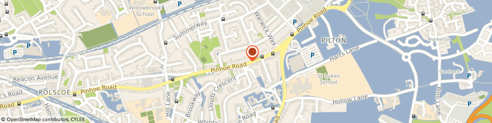 Route/map/directions to S McKinnel, EX4 8EH Exeter, 402 Pinhoe Rd