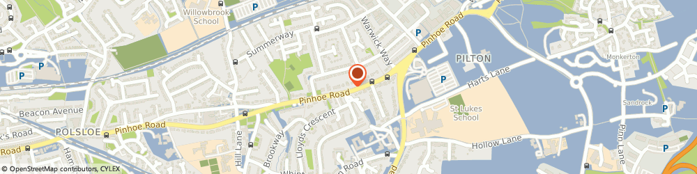 Route/map/directions to Pinhoe dental centre, EX4 8EH Exeter, 402 Pinhoe Road