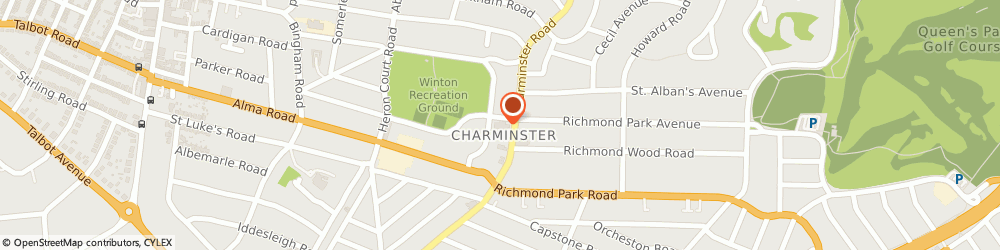Route/map/directions to St. Albans Church Hall, BH9 1DW Bournemouth, 21 Linwood Rd