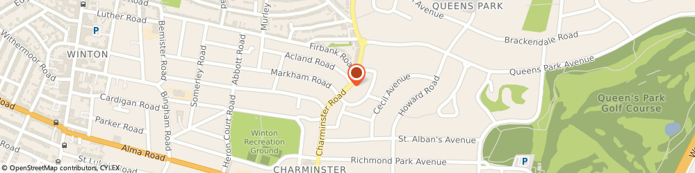 Route/map/directions to CHARMINSTER S/STN, BH8 9QW Bournemouth, 332/342 Charminster Road