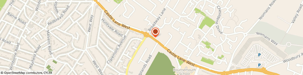 Route/map/directions to Post Office Limited, BH8 9TG Bournemouth, 245 Castle Lane