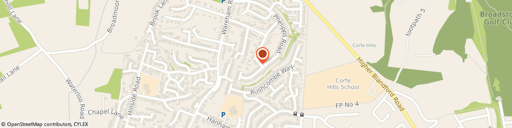 Route/map/directions to Watkins Instrument Repair, BH21 3JQ Corfe Mullen, South Road