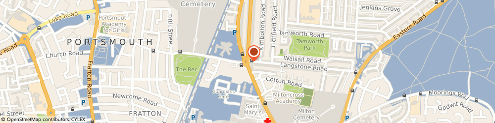 Route/map/directions to UPS Solutions Logistics, PO3 6BG Portsmouth, Baffins Road, 2