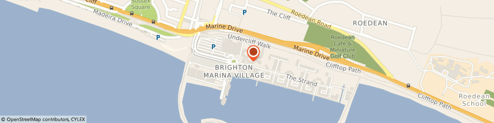 Route/map/directions to LeaseYourNextCar.com, BN2 5WA Brighton Marina Village, 25 The Waterfront