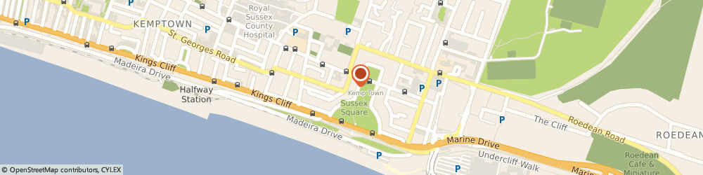 Route/map/directions to BUT group, BN2 1FJ Brighton, WALSINGHAM COTTAGE, 7 SUSSEX SQUARE