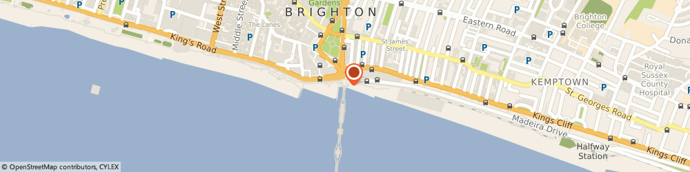 Route/map/directions to Palm Court Cafe, BN2 1TW Brighton, Brightonpier, Madeira Drive
