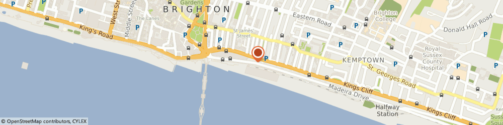 Route/map/directions to Beach Cafe & Takeaway, BN2 1TW Brighton, 11-14, Madeira Drive