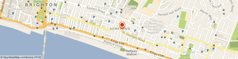 Route/map/directions to The Back Store, BN2 1EB Brighton, 3 St. Georges Road