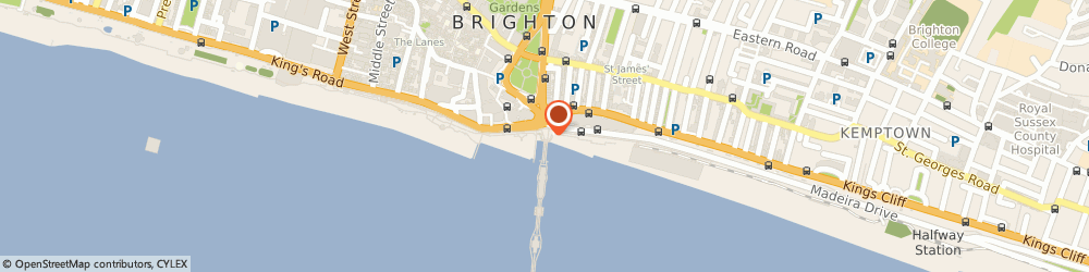 Route/map/directions to Indian Palmist, BN2 1TW Brighton, PALACE PIER, MADEIRA DRIVE