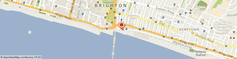 Route/map/directions to WORLD CETACEAN ALLIANCE, BN2 1ET Brighton, Unit 3, Lower Promenade Madeira Drive
