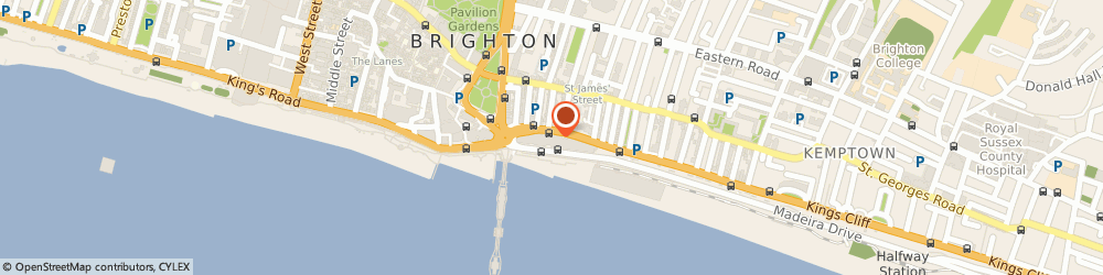 Route/map/directions to The Gym Brighton Madeira Drive, BN2 1AY Brighton, Unit 9, The Terraces, Madeira Drive