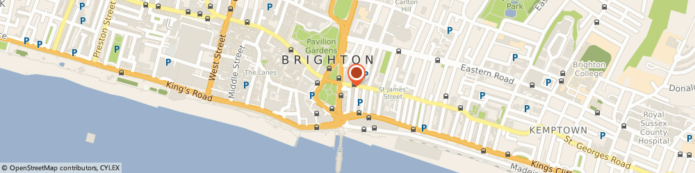 Route/map/directions to Kamsons Pharmacy, BN2 1TH Brighton, 128 St James's Street
