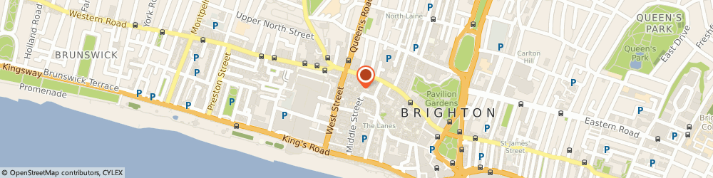 Route/map/directions to Fabrica, BN1 1AG Brighton, 40 Duke Street