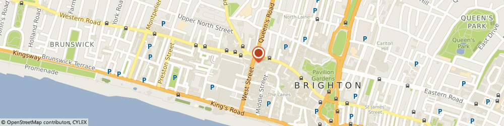 Route/map/directions to Electronic Centre, BN1 2RD Brighton, 7 Cranbourne St
