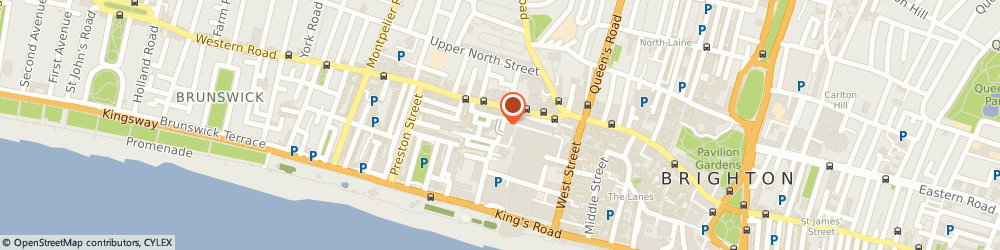 Route/map/directions to Europcar Brighton, BN1 2FB Brighton, Cannon Place
