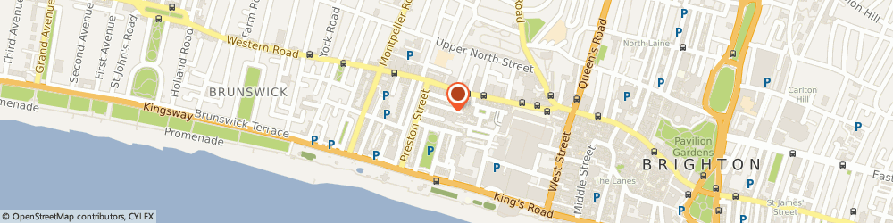 Route/map/directions to Small Pond, BN1 2HD Brighton, 27 Castle Street