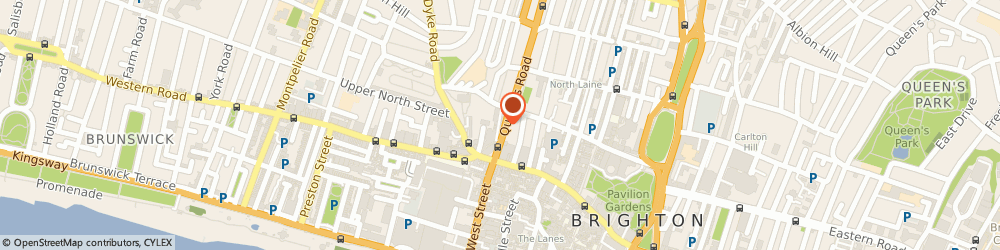 Route/map/directions to Alpha Index Limited, BN1 3WA Brighton, 9 QUEENS ROAD