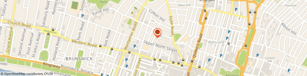Route/map/directions to Cadenza Lighting, BN1 3FN Brighton, 8 Clifton Place