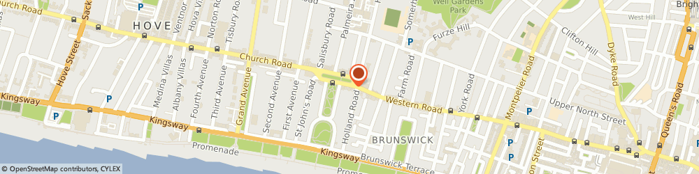 Route/map/directions to THE JOY OF BUSINESS LTD, BN3 2JQ Brighton, 65-67 Western Road, Intergen House