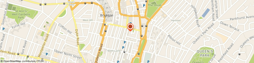 Route/map/directions to Gunns Flowers, BN1 4EN Brighton, 19 Sydney St