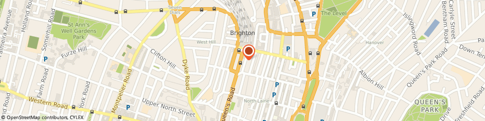 Route/map/directions to Brighton Station Health Centre, BN1 3XE Brighton, Aspect House, 84-87 Queens Road