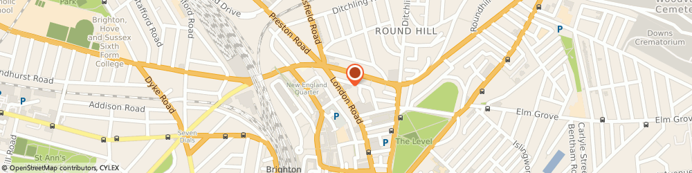 Route/map/directions to Brighton Film School Central, BN1 4JF Brighton, 84-86 London Road