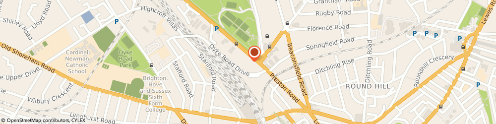 Route/map/directions to Aspect8, BN1 6AF Brighton, 125-135, Preston Rd, Telecom House