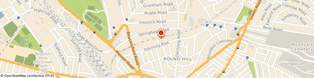 Route/map/directions to New Priory Vets Brighton, BN1 8QR Brighton, 10 The Deneway, London Road