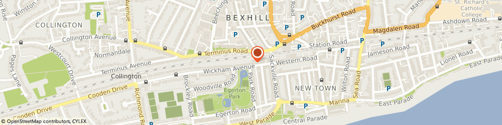 Route/map/directions to Dyamond Stage Academy / Dyamond Dance, TN39 3EN Bexhill-On-Sea, 8-12 Wickham Ave