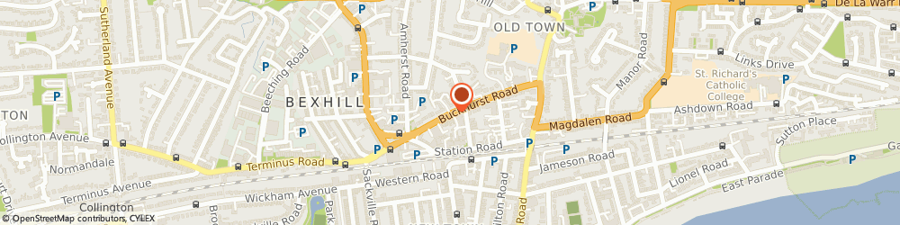 Route/map/directions to Janice Blake Dance Studio, TN40 1QE Bexhill-On-Sea, 33, BUCKHURST ROAD
