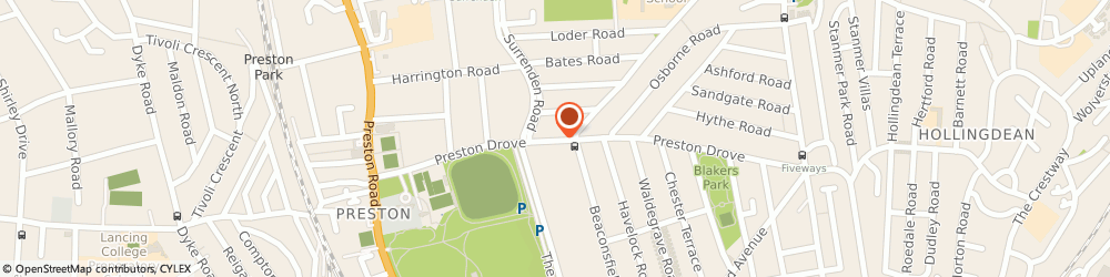Route/map/directions to Ginger Lily Floral Design, BN1 6LD Brighton, 93 Preston Drove