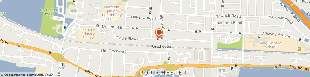 Route/map/directions to Charlie the Magical Clown, PO16 8BL Fareham, 8 The Hillway, Portchester