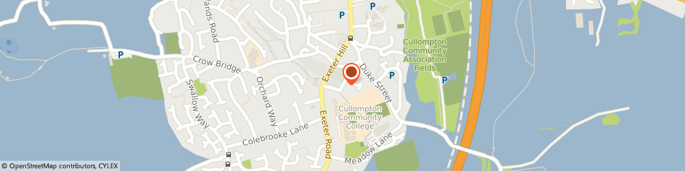 Route/map/directions to Cullompton Pre-School, EX15 1DS Cullompton, Brook Rd